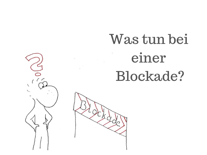 Beitragsbild Was tun bei einer Blockade